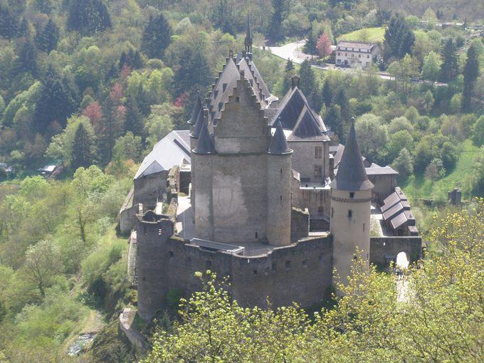 山から川から、ヴィアンデン城と素晴らしい町並みの眺めを満喫