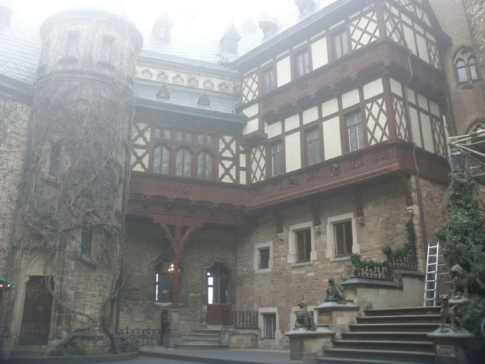 丘の上のヴェルニゲローデ城は、博物館として公開中