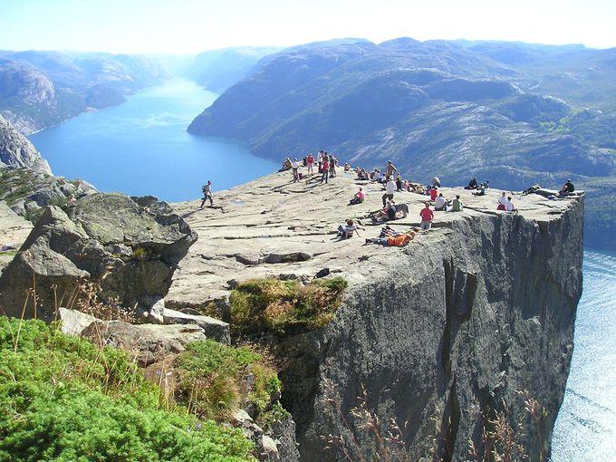 プレーケストーレンを崖の上から見下ろそう!