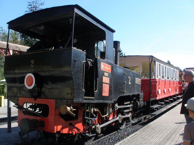 歴史を持つアッヘンゼーバーンはノスタルジックな蒸気機関車