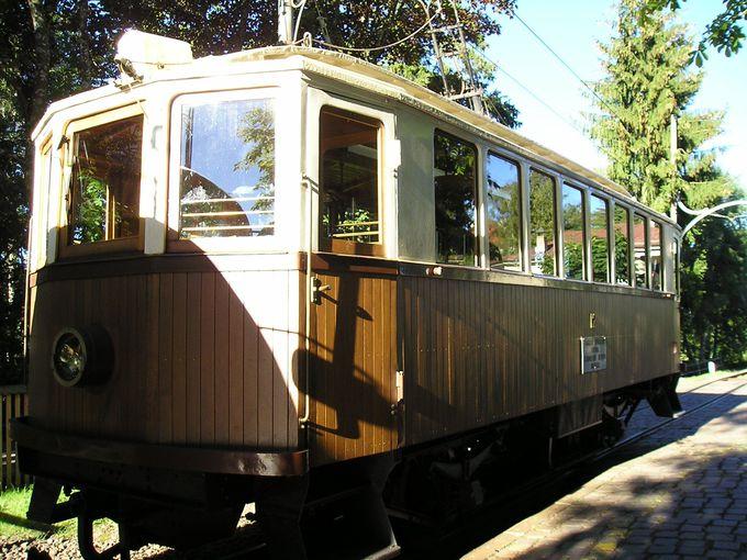 古い木造りの愛らしい高原列車に乗り継いで