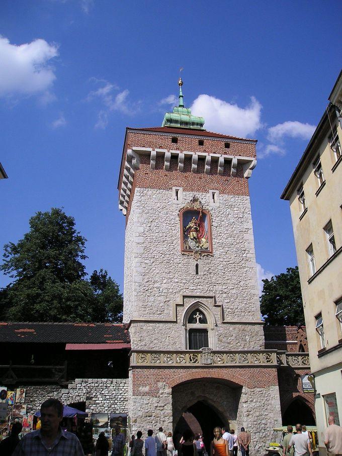 城壁に設けられたフロリアンスカ門
