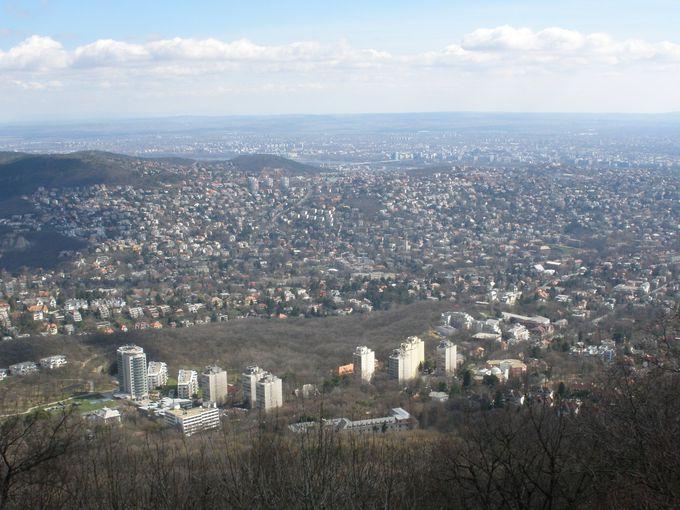 ブダペスト市内を一望
