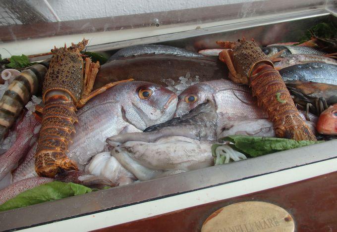 新鮮な魚介類に舌鼓!