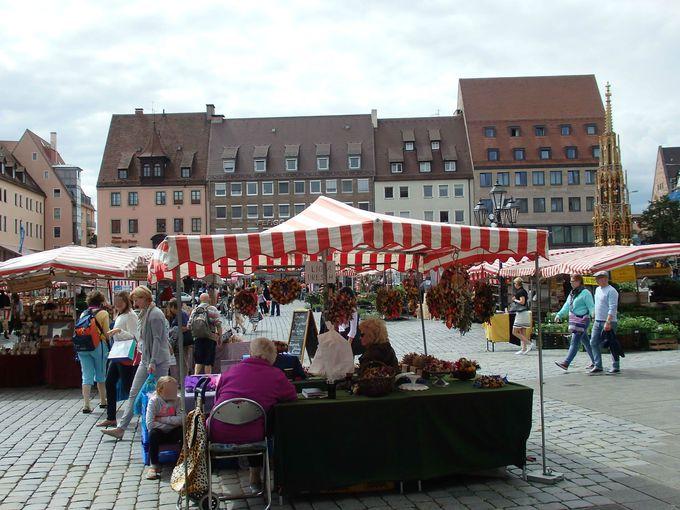 マーケットの開かれる中央市場