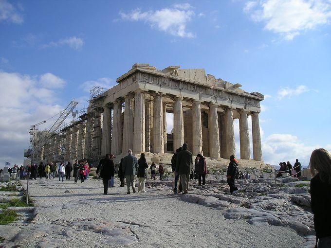 アクロポリスのハイライト「パルテノン神殿」