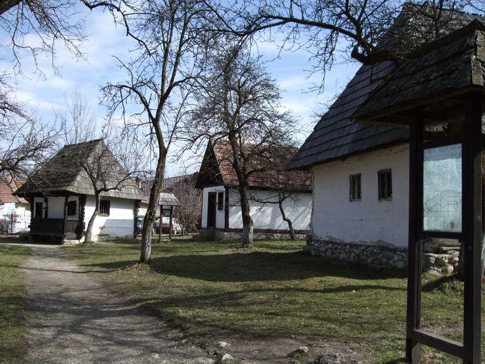 敷地内の野外村落博物館