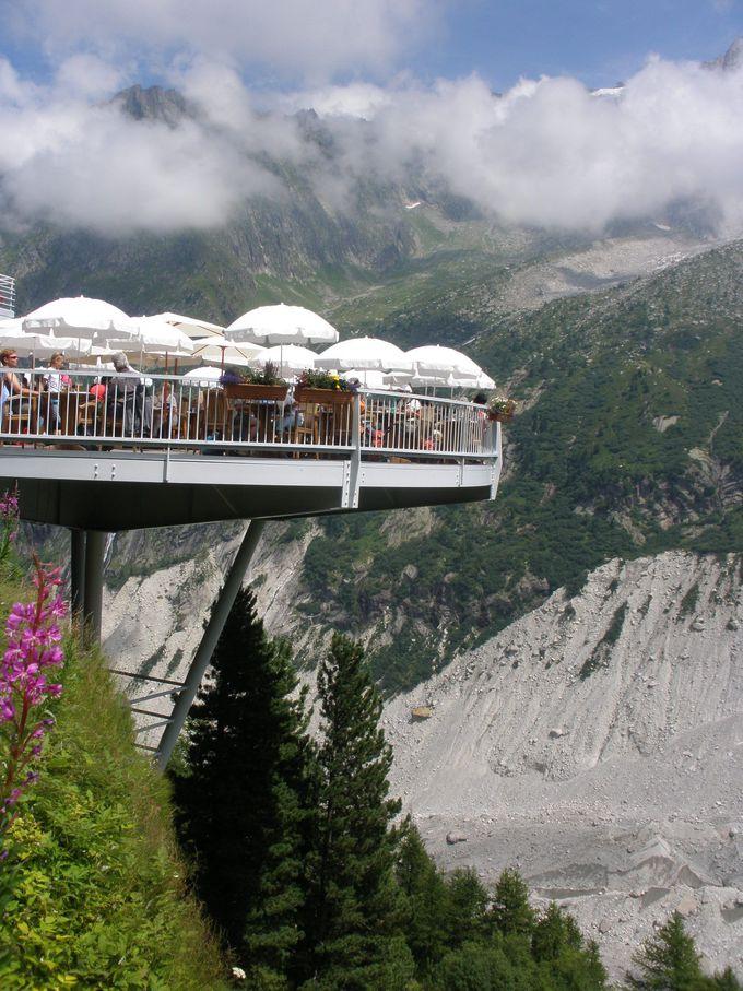 メール・ド・グラス氷河の眺めをタップリと