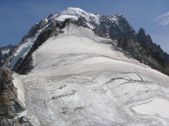 4000メートル級の山々を一望