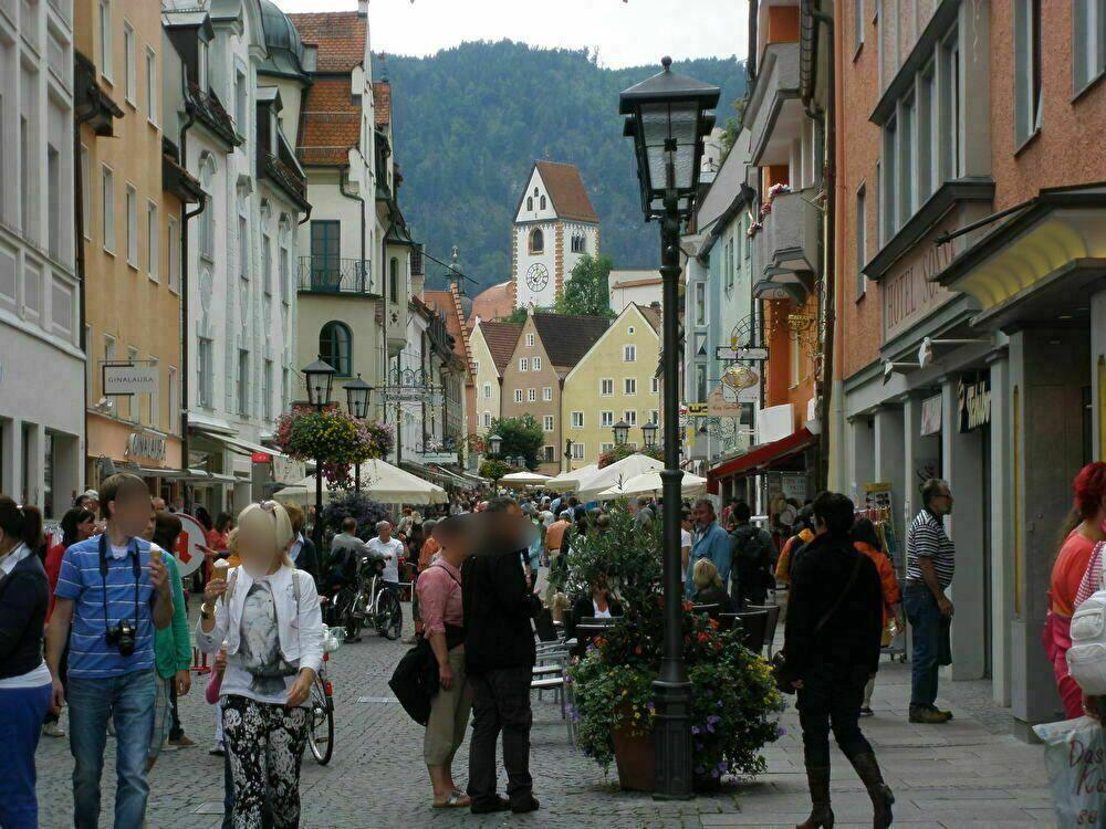 ドイツらしい活気あふれる可愛らしい町並み