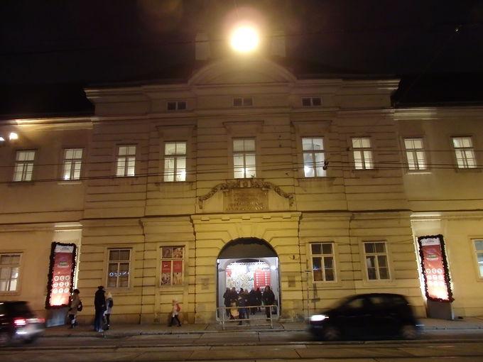 ウィーン大学キャンパスのクリスマスマーケット