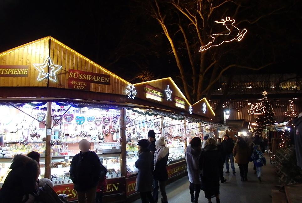 市民公園でのクリスマスマーケット