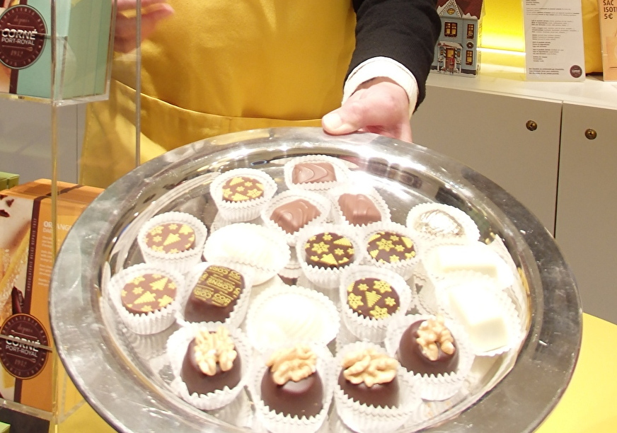 ギルドハウスに入るチョコレートショップ巡りも楽しみの一つ