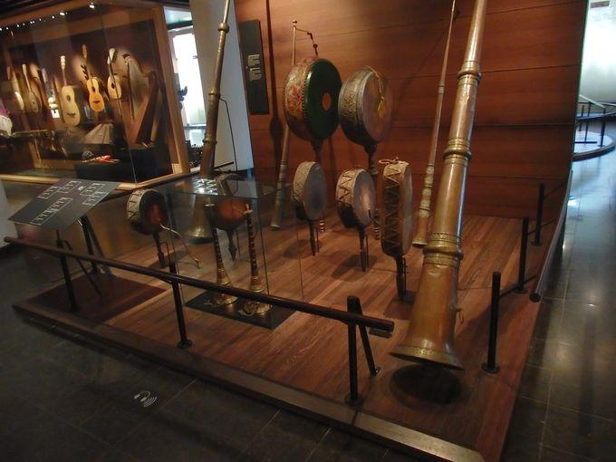こちらも見応えあり!楽器博物館の展示と眺望