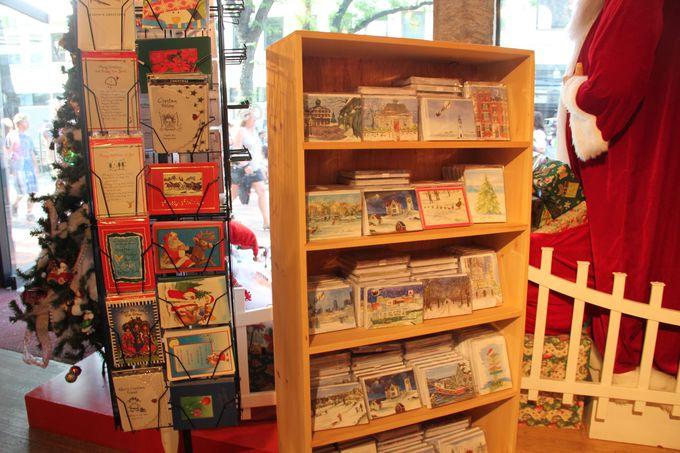 クリスマスカードの種類も豊富