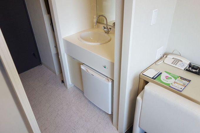 機能的で清潔な客室