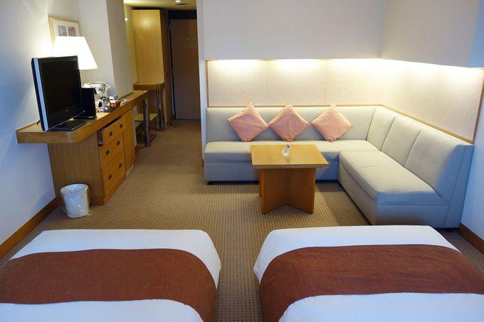 ゆったりステイができる贅沢な客室