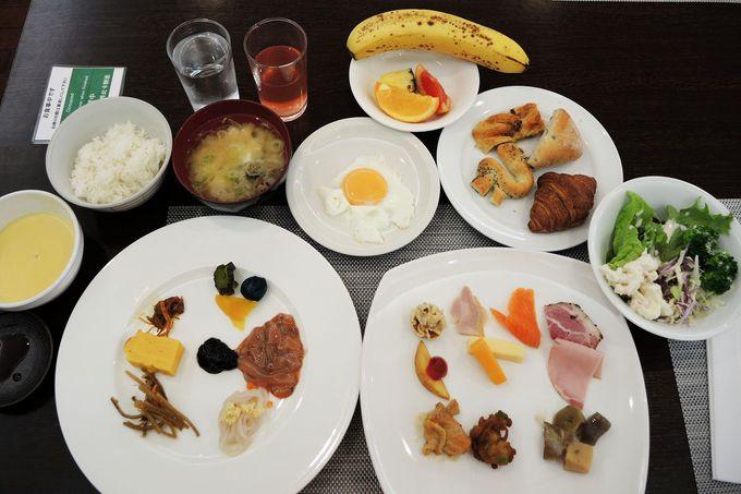 充実の朝食