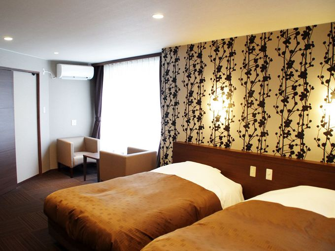 充実の施設と客室