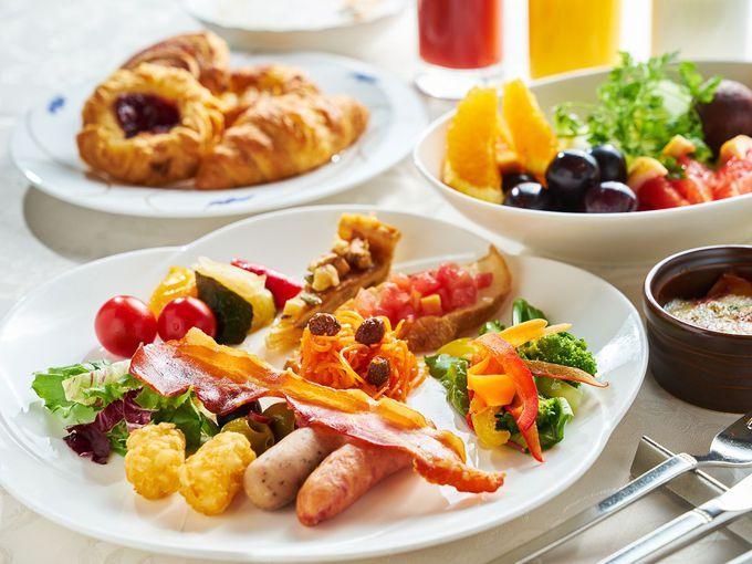 質の高さを満喫できるホテルご自慢の朝食