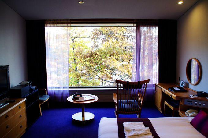 野尻湖を望む客室
