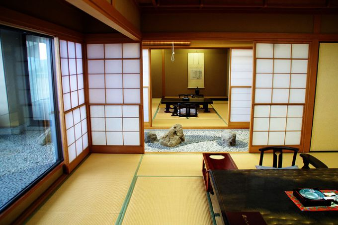 将棋のタイトル戦の舞台でもある貴賓室