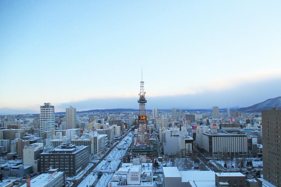 碁盤の目が美しい札幌の街
