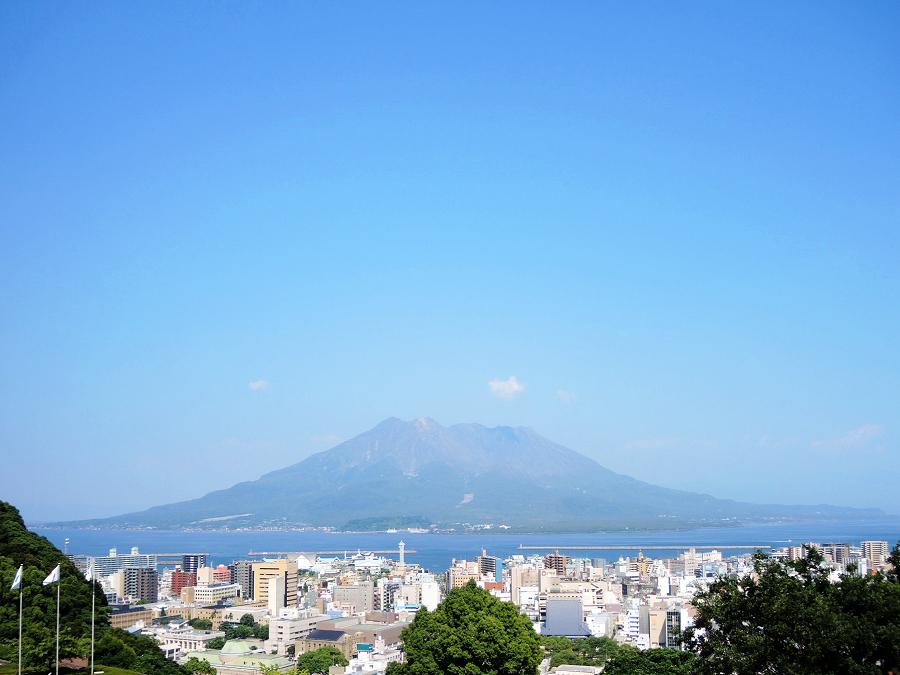 桜島の迫力ある眺望