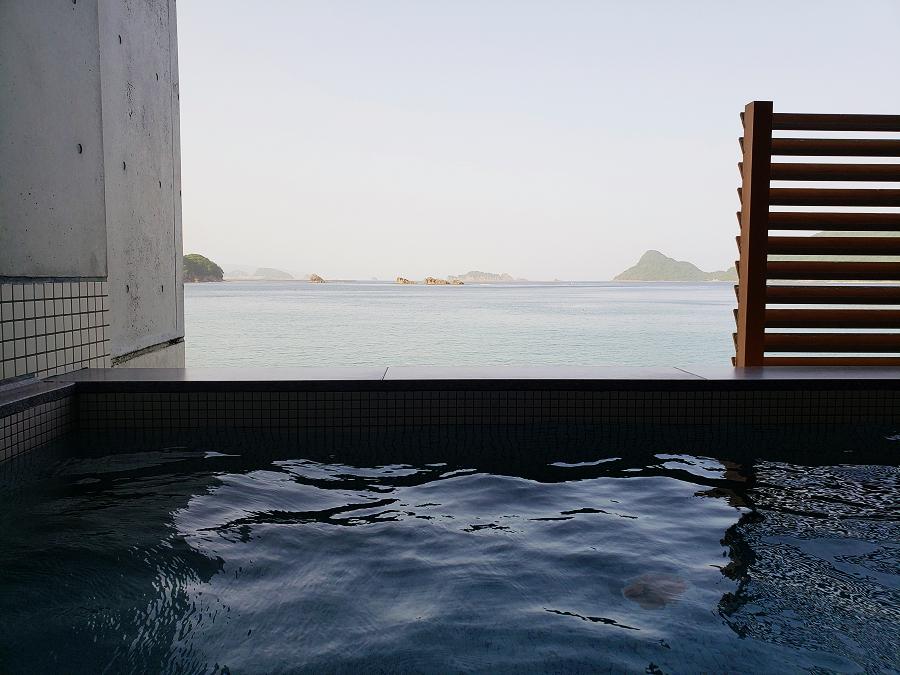 最高眺望の客室そして露天風呂