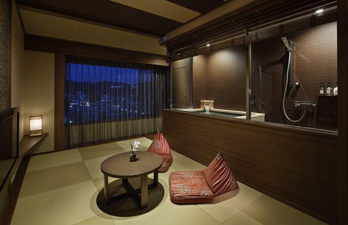 客室でホテルの自家源泉が楽しめる「温泉付きプレミアルーム」