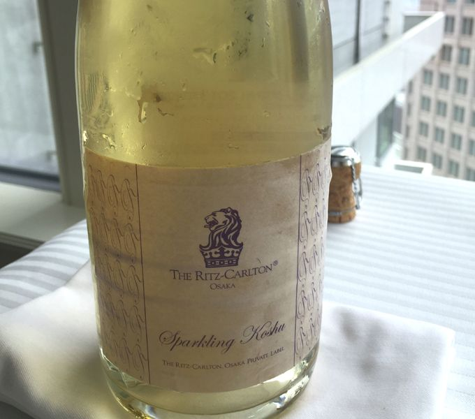甲州産の「オリジナルスパークリングワイン」はセイヴォリーと好相性