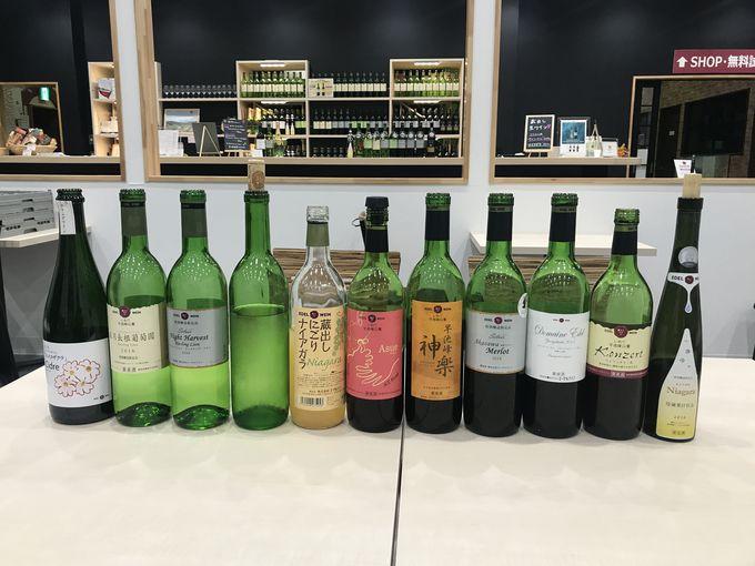 岩手産のブドウを使用した、約40銘柄のワインが楽しめる