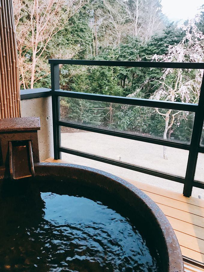 肌にやさしい強羅温泉のお湯をひとり占め!