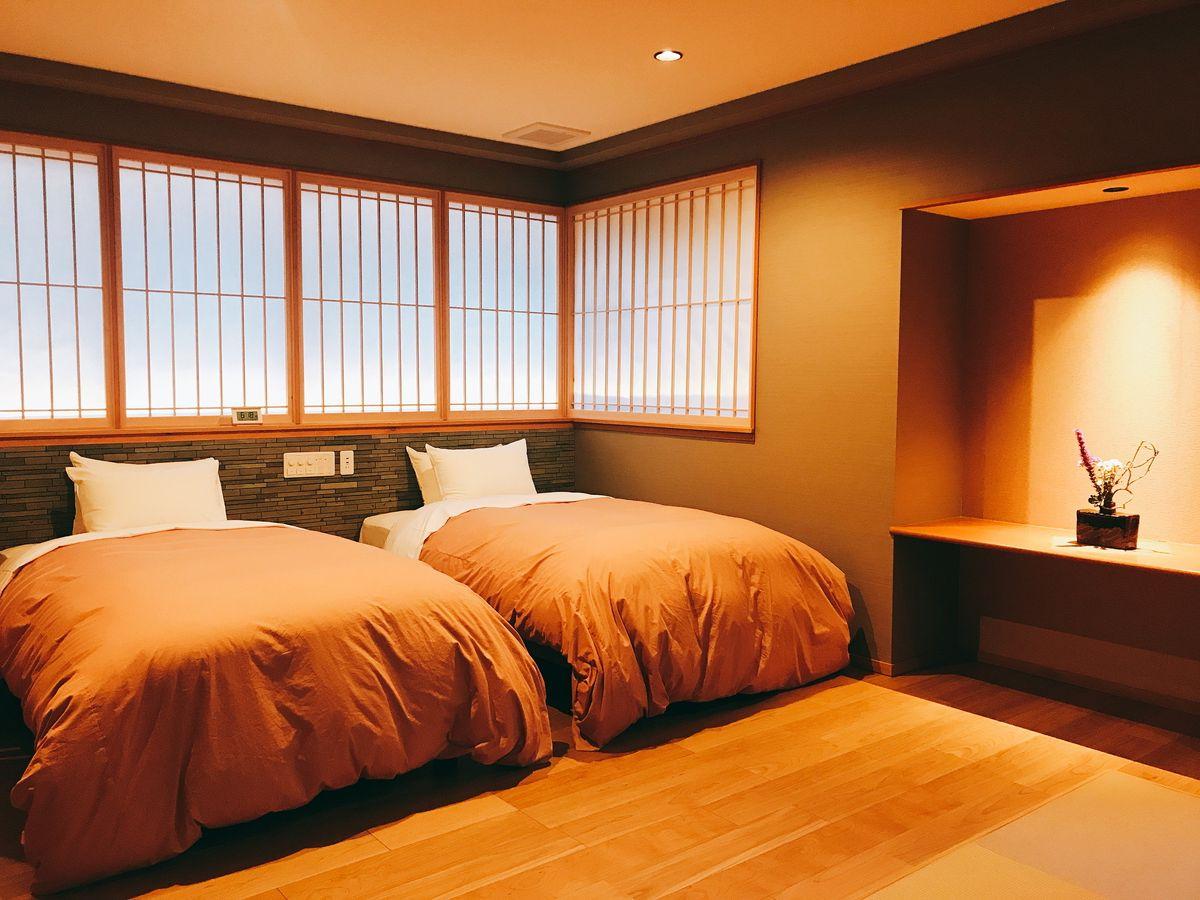「サータ」製のベッド、ナノケアのドライヤーなど随所にこだわりが