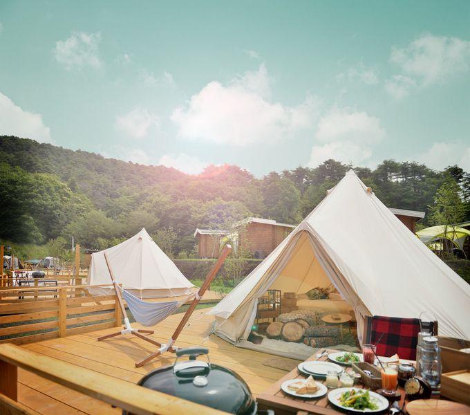 関西初のグランピング施設、るり渓GRAXでグランピングを楽しもう!