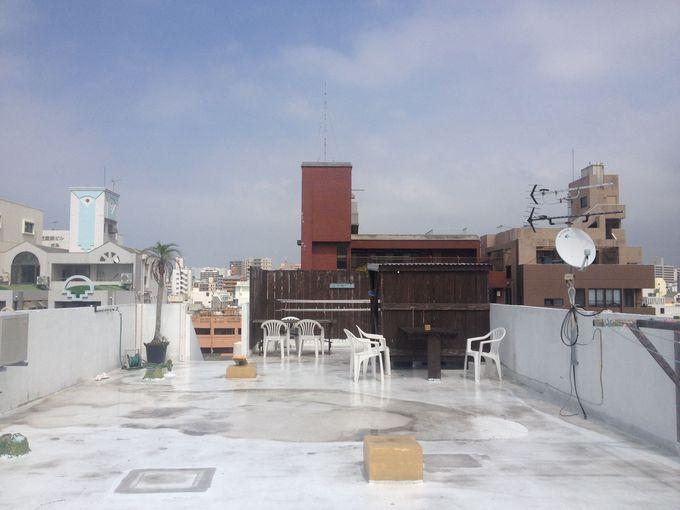 洗濯物はもちろん、ダイビング機材まで干せる広い屋上!