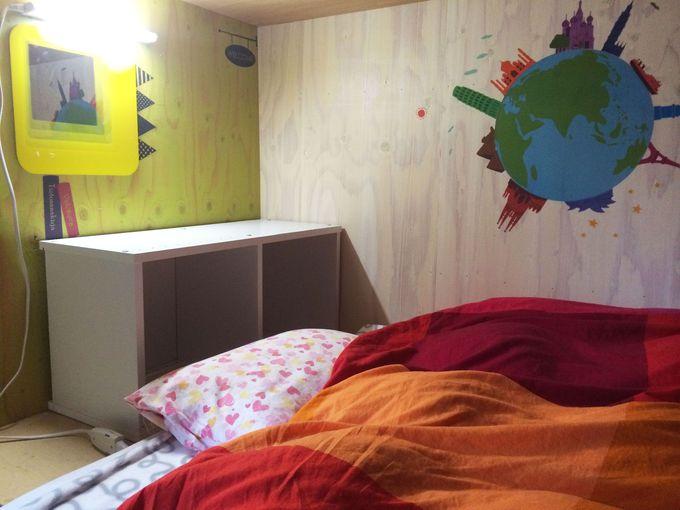 色とりどりのポップなベッドで快眠