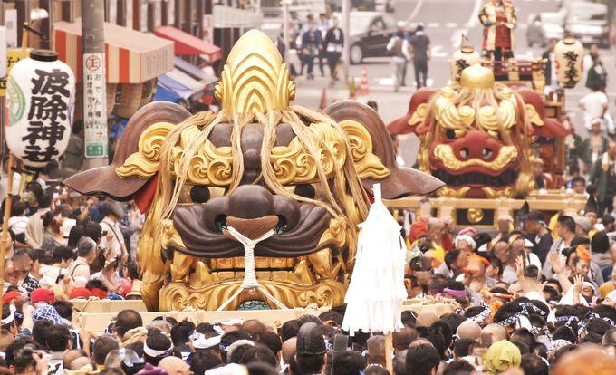 女神輿としても担がれる珍しい「お歯黒獅子」