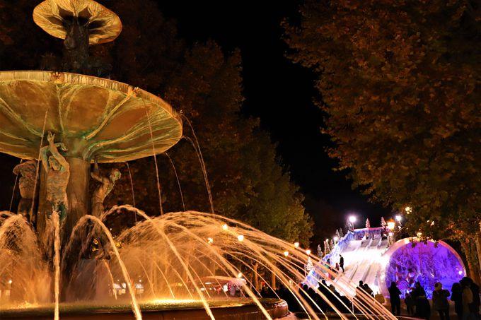 アングルにより様々な雰囲気が撮影できる「ウミジャデロ広場」