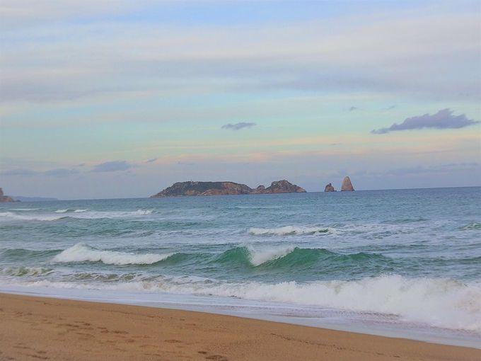 自然保護区の海岸線