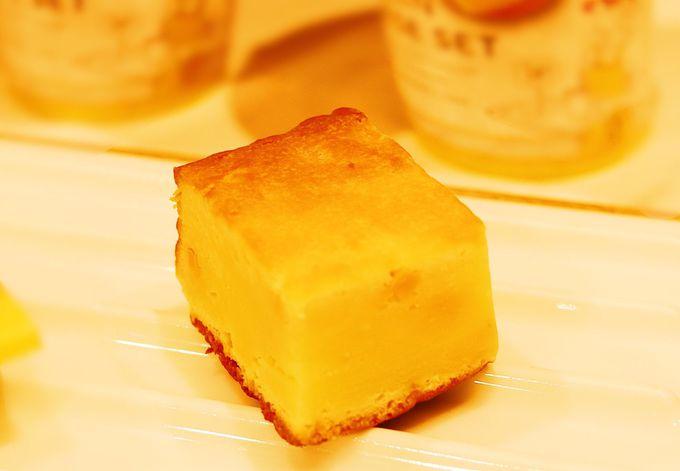 噛むほどに味わい深い!しっとり食感「チーズゴロゴロケーキ」