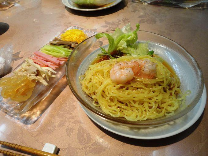 冷やし中華発祥のお店でいただく元祖の味♪龍亭の「涼拌麺(りゃんばんめん)」