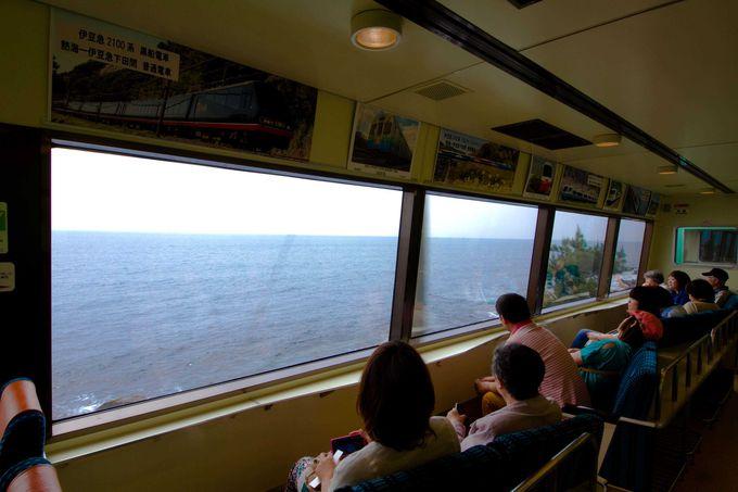 鉄道ファン垂涎の「伊豆急行列車リゾート21」で海岸沿いを疾走