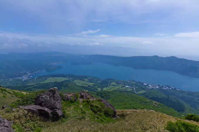 箱根に到着!駒ヶ岳山上から富士山&芦ノ湖を一望
