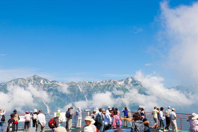 【新穂高】雲上の別世界!目線と同じ高さで標高3000m級の山々を一望