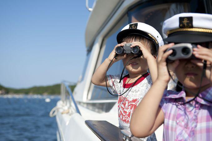 【海で遊ぼう】ちびっこキャプテンになって冒険クルーズ!