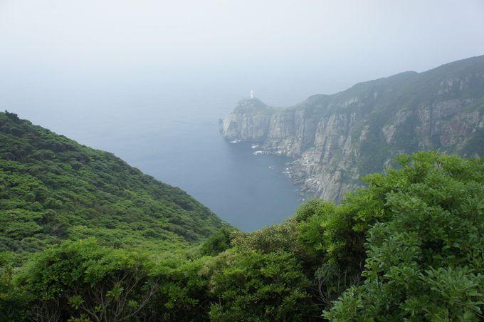 まずは、島の西端にある大瀬崎灯台をめざしましょう。ここが九州で最後に夕陽が沈む絶景ポイントです。