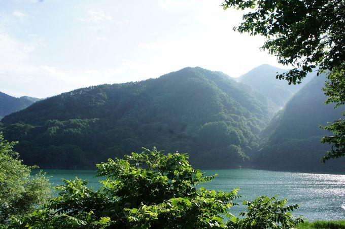 日本のダム湖百選に選ばれた南アルプスの美和湖