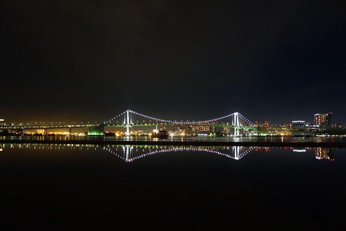 (3)晴海客船ターミナルで「逆さレインボーブリッジ」を堪能!