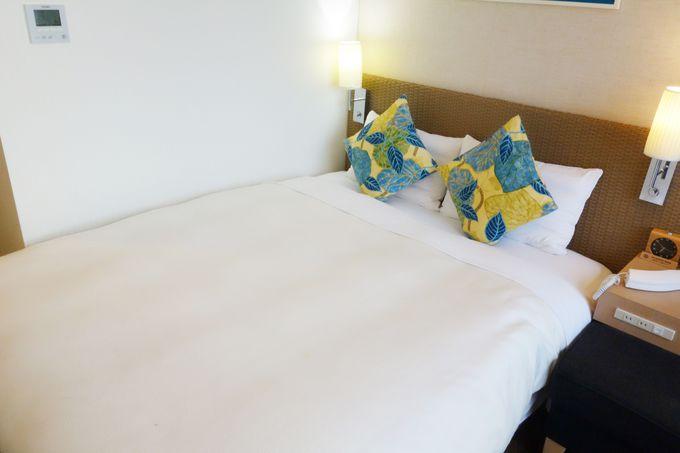 シモンズ社製ベッドが快適!寝心地はシティホテルクラスの実力
